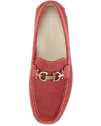 Donald J Pliner Perforated Suede Driver Red 11 - Lyst