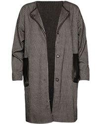 Pixie Market Check Duster Cocoon Coat - Lyst