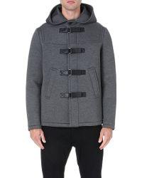 Neil Barrett Waterproof Neoprene Duffle Coat - For Men - Lyst