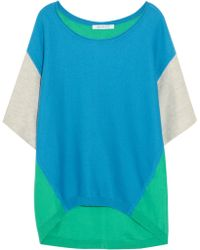 Duffy - Color-Block Cotton-Blend Terry Top - Lyst