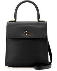 Charlotte Olympia Bogart Leather Top Handle Bag - Lyst