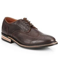 Walk-Over Eliot Lace-Up Leather Wingtip Derby Shoes brown - Lyst
