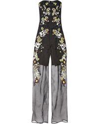 Erdem - Una Embroidered Silk-Organza Jumpsuit - Lyst