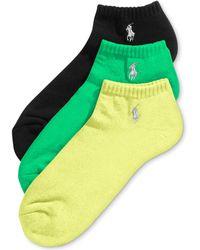 Polo Ralph Lauren Ralph Lauren Mens Socks Xl Tech Noshow 3pack - Lyst