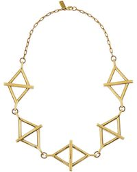 Pamela Love Golden Multi-balance Necklace - Lyst