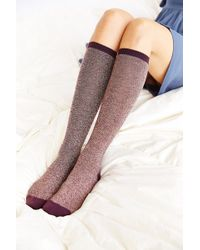 Urban Outfitters Twotoned Marled Kneehigh Sock - Lyst