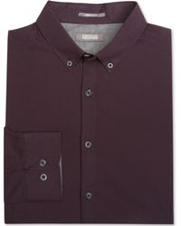Kenneth Cole Reaction Seamed Micro-checked Shirt - Lyst