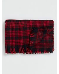 LAC | Red And Bk Blanket Scarf | Lyst