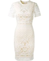 Lover Ivory Lace Dress - Lyst