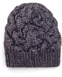 James Lakeland - Lurex Mix Cable Knit Hat - Lyst