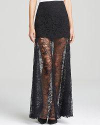 DKNY Lace Maxi Skirt - Lyst