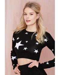 Nasty Gal Seeing Stars Knit Crop Top - Lyst