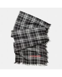 Coach Shirting Plaid Oblong Scarf - Lyst