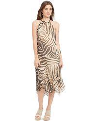 Lauren by Ralph Lauren Animal-Print Halter Dress - Lyst