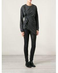 Etoile Isabel Marant Gray Draped Sweater - Lyst