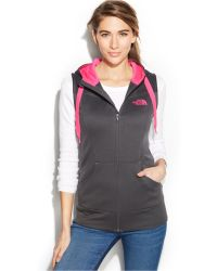 The North Face Suprema Hooded Fleece Vest black - Lyst