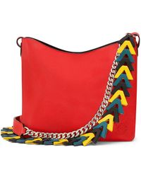 Loewe | V Leather Bucket Bag | Lyst