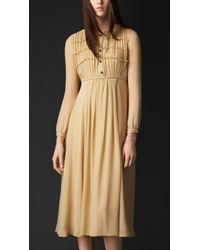 Burberry Layered Silk Dress - Lyst