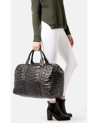 Topshop Quilted Leather Luggage Bag  - Lyst