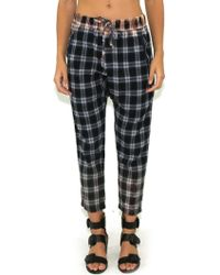 Wildfox | Ryans Joggers In Plaid Multi | Lyst