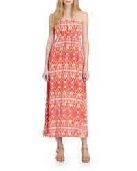 Joie Ruma Silk Printed Maxi Dress - Lyst