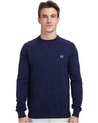 Fred Perry Marl Crew Neck Sweater - Lyst