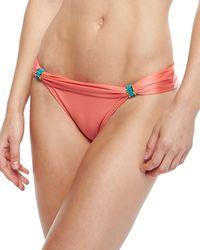 Vix Solid Peach Bia Tubehardware Swim Bottom - Lyst