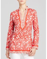 Tory Burch Red Tory Tunic - Lyst