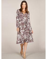 Three Dots L/S Wrap Dress W/ Sash - Lyst