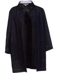 Hache Blue Denim Outerwear - Lyst