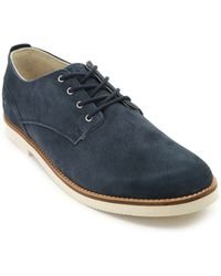Pointer Surfer Navy Blue Suede Derby Shoes - Lyst