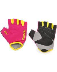 Reebok - Fitness Gloves In Magenta - Small - Lyst