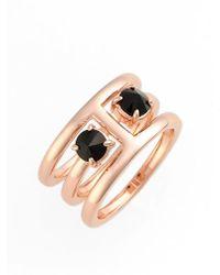 Rebecca Minkoff - 'puzzle' Jewel Ring - Jet/ Rose Gold - Lyst