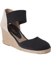 Andre Assous Anouka Mid Espadrille Black Fabric - Lyst