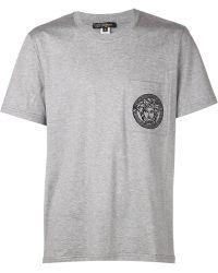 Versace Medusa Embroidered Pocket Tshirt - Lyst