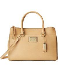 Calvin Klein Mercury Leather Satchel - Lyst