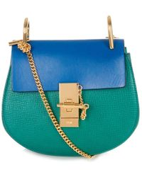Chloé Drew Mini Bi-Colour Cross-Body Bag - Lyst