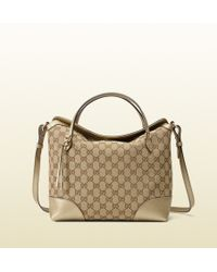Gucci Bree Original Gg Canvas Top Handle Bag beige - Lyst