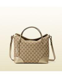 Gucci Bree Original Gg Canvas Top Handle Bag - Lyst