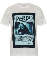 Yohji Yamamoto Perdu-Print Jersey T-Shirt - Lyst