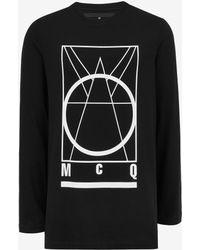 McQ Alexander McQueen | Glyph Icon Crew Neck T-shirt | Lyst