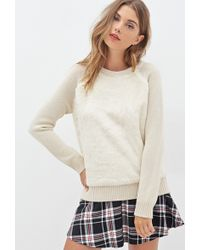 Forever 21 Faux Fur & Knit Sweater - Lyst