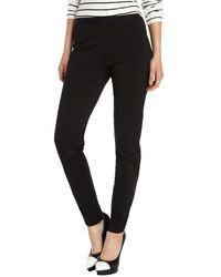 T Tahari Black Stretch Woven Tahoe Ankle Length Pants - Lyst