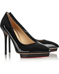 Charlotte Olympia Debbie Patent-leather Pumps - Lyst