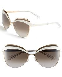 Dior Women'S 'Eyes 1' 60Mm Metal Butterfly Sunglasses - Rose Gold/ Ivory - Lyst