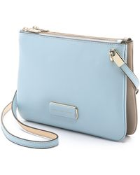 Marc By Marc Jacobs Ligero Double Percy Bag - Faded Blue Multi - Lyst