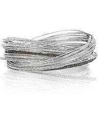 Coomi Spring Sterling Silver Bracelet W Interlaced Stacks - Lyst