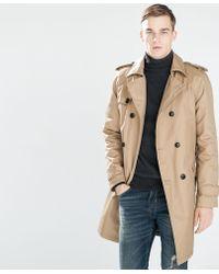 Zara Oversized Trench Coat - Lyst