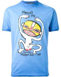 DSquared2 Monkey Me Print T-shirt - Lyst