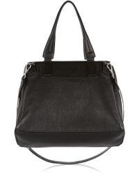 Givenchy Medium Pandora Flap Bag in Black Leather - Lyst
